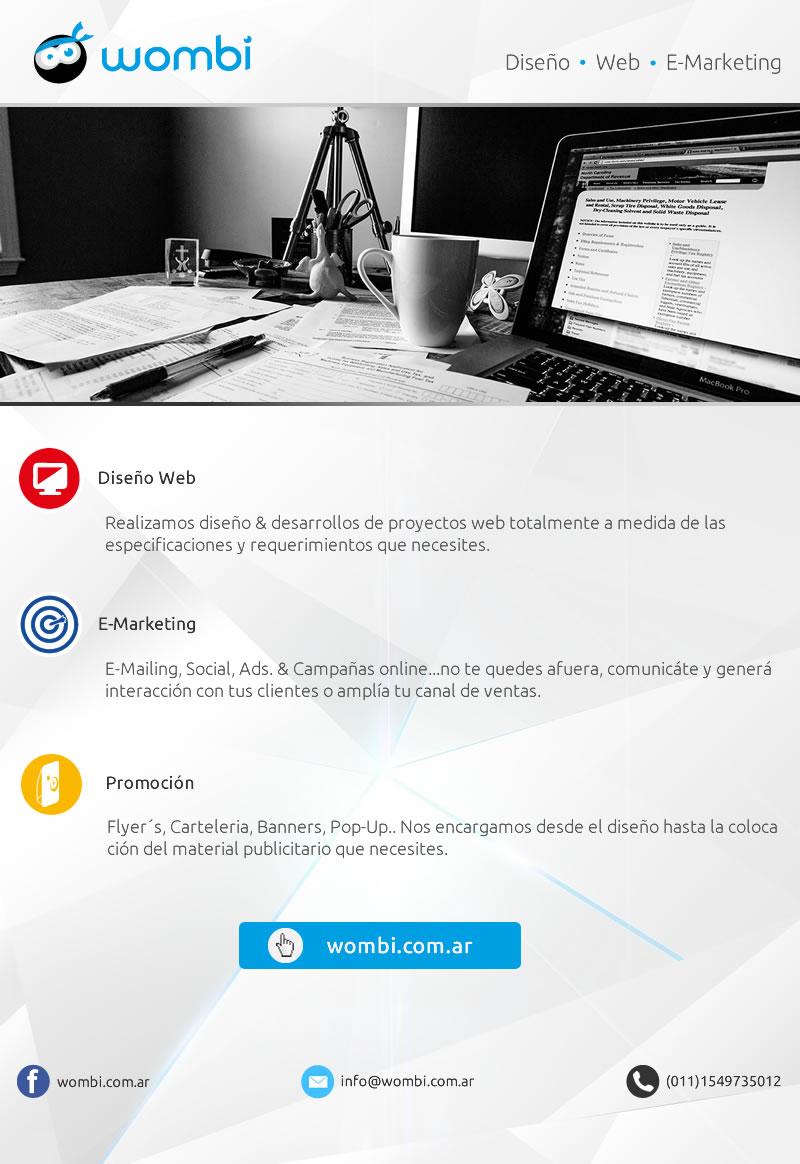 Wombi.com.ar Servicios de Diseño - Web - E-Marketing